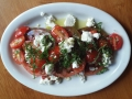 coast: local heirloom tomato salad