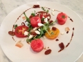 michaels ont the alley: tomato watermelon basil salad
